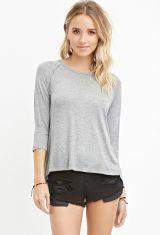 Grey Slub Knit Top